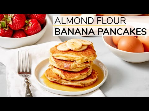 ALMOND FLOUR BANANA PANCAKES | healthy recipe (with Happy Egg)